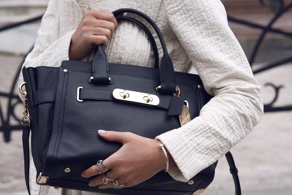 Coach, Swagger, Bag, Handbag, Black, Tote, Shopper, Outfit, Paris, Oracle Fox - RINGS