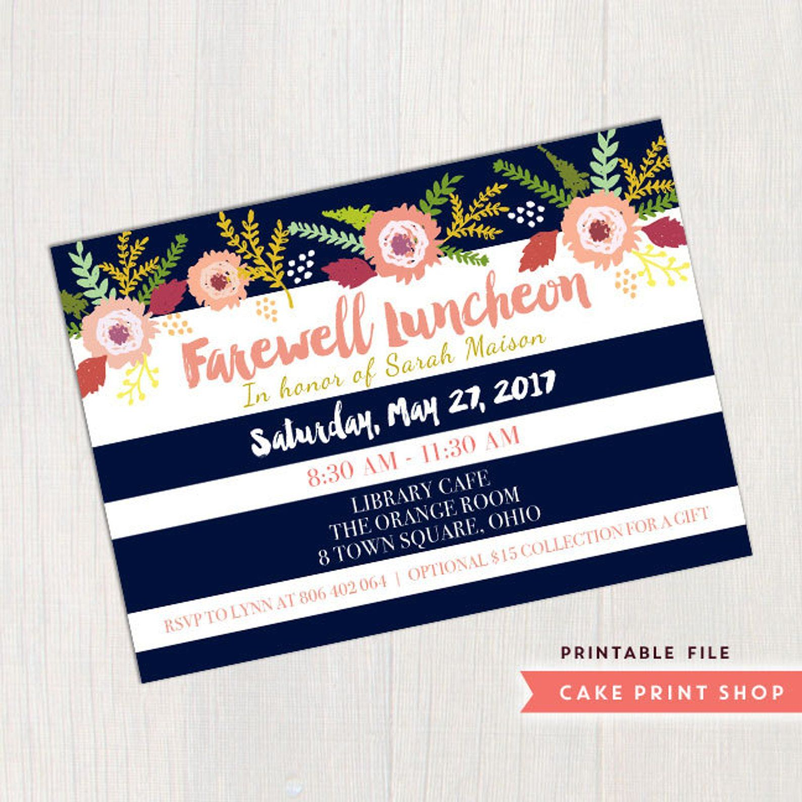 Farewell Party Invite Good Bye Party Invite Women S