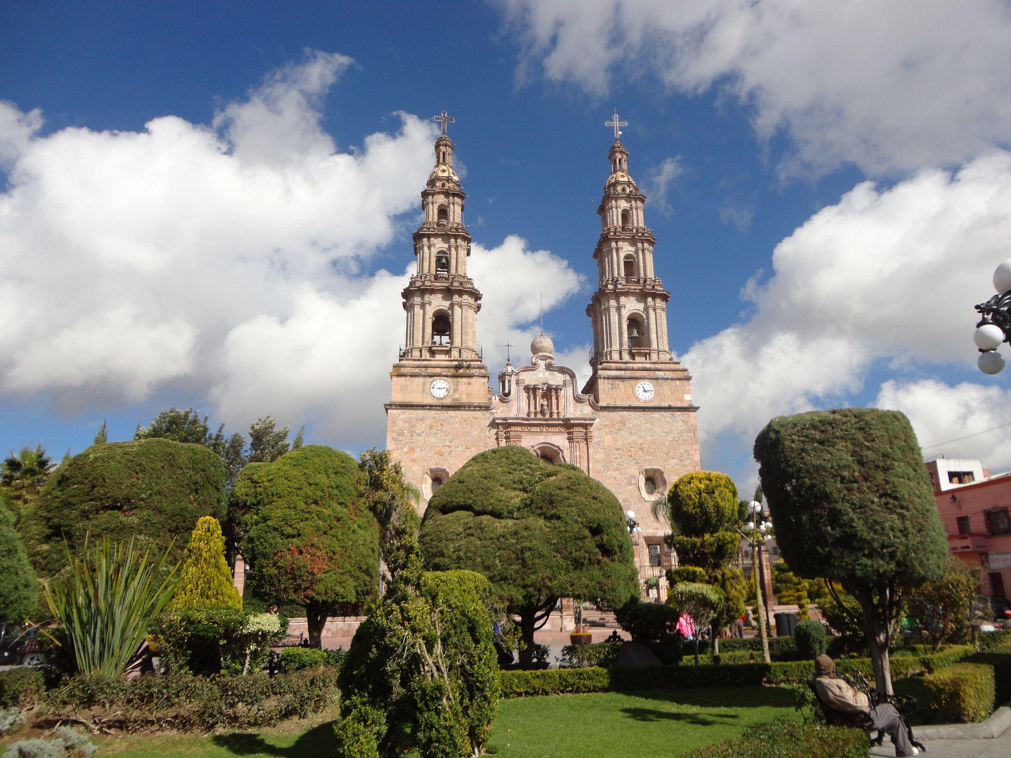Parroquia de nuestra Señora de Encarnación, en Encarnación de Diaz, Jalisco, México.