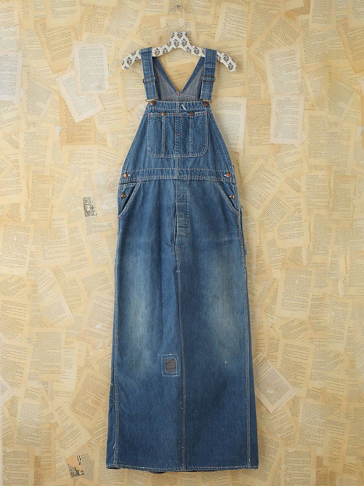 56a77d4367 Free People Vintage Indigo Overall Dress