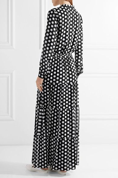 MICHAEL Michael Kors - Tiered polka-dot georgette maxi dress