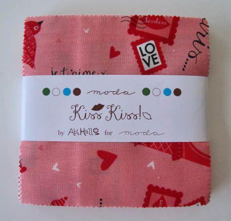 KISS KISS Charm Pack  Abi Hall for Moda  5-Inch by Jambearies