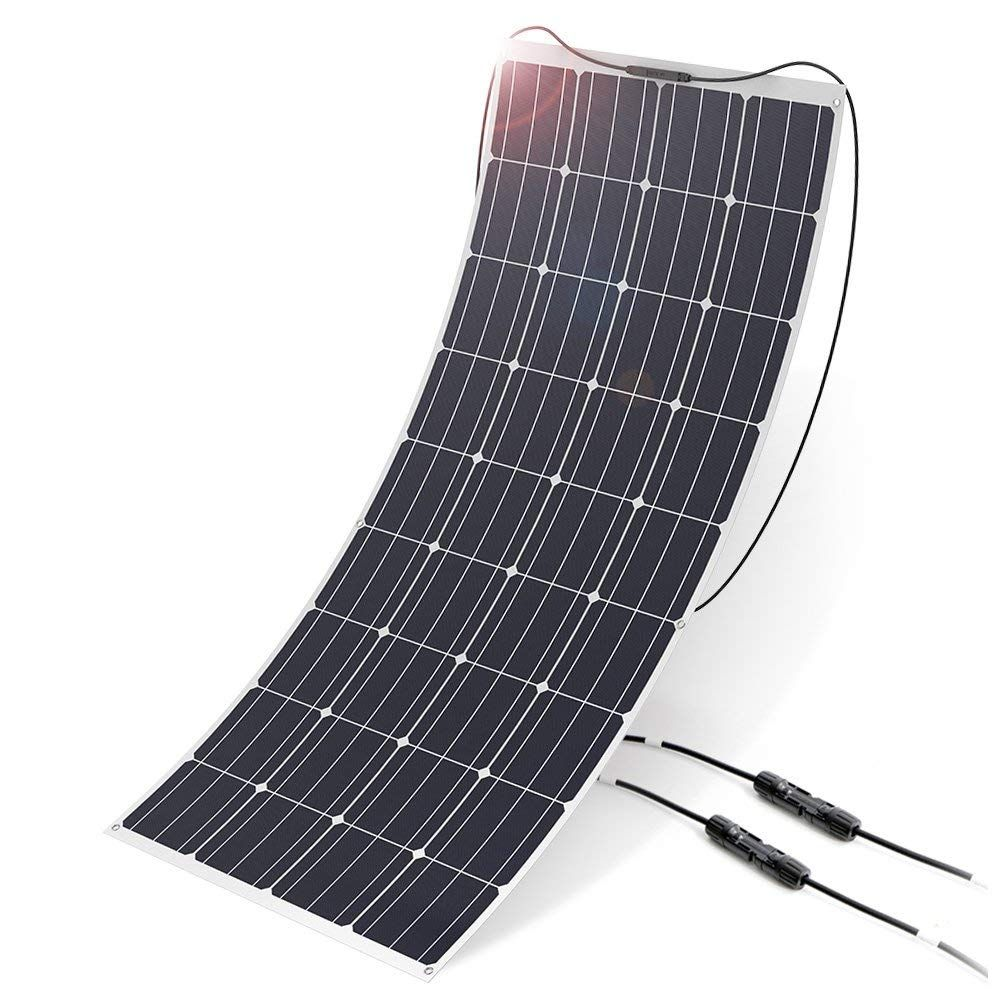 Allpowers 160w 18v 12v Solar Panel Monocrystalline Lightweight Flexible Solar Charger With Mc4 Connector 12v Solar Panel Solar Panels Roof Solar Panel