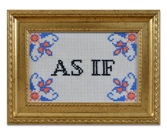 PDF PATTERN As if cross stitch, inspired by Clueless on Etsy, £2.63