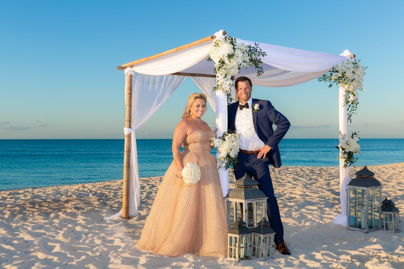 Grace Bay Turks And Caicos Destination Wedding Glittery Bride Destination Wedding Turks And Caicos Wedding Monochrome Weddings