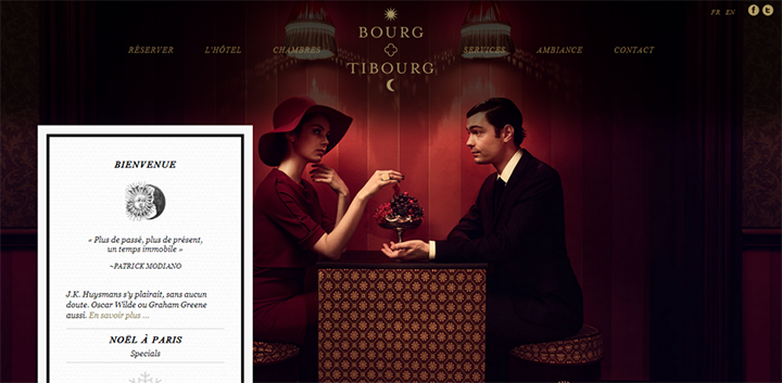Bourg Tibourg Hotel Website Design Boutique Hotel Paris Hotel