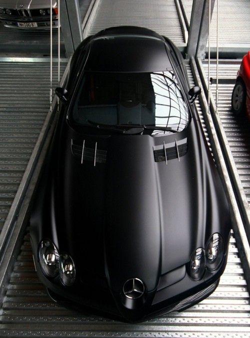 Matte Black Mercedes SLR Mclaren