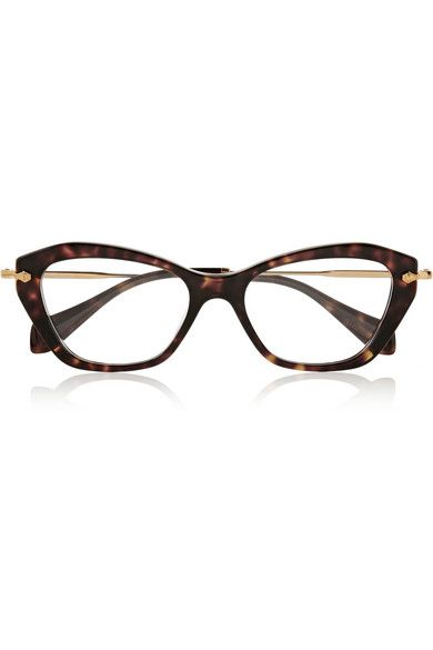 Tortoiseshell acetate Can be fitted with prescription lenses Come in a  designer-stamped pink velvet hard case 1382f0adafde