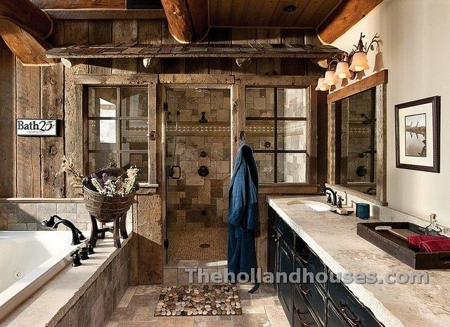 Rustic Spa Bathroom