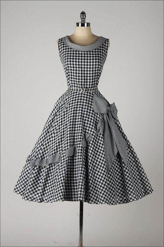 c1c1c13663c robe vintage des années 1950. coton Vichy par millstreetvintage ...