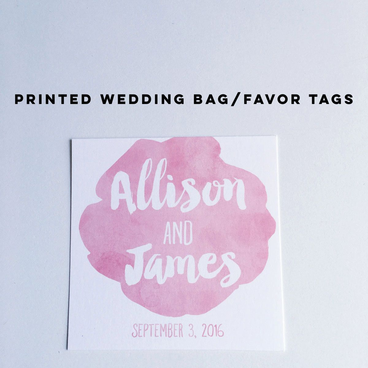 Personalized Wedding Welcome Bag Tags in a pretty in pink design ...