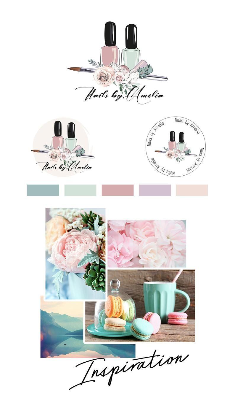 Nail Artist Branding Kit Branding Package Logo Design Nail