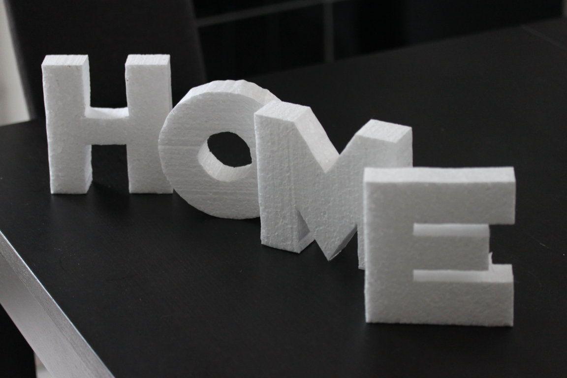 deko buchstaben schnell und preisg nstig aus styropor. Black Bedroom Furniture Sets. Home Design Ideas