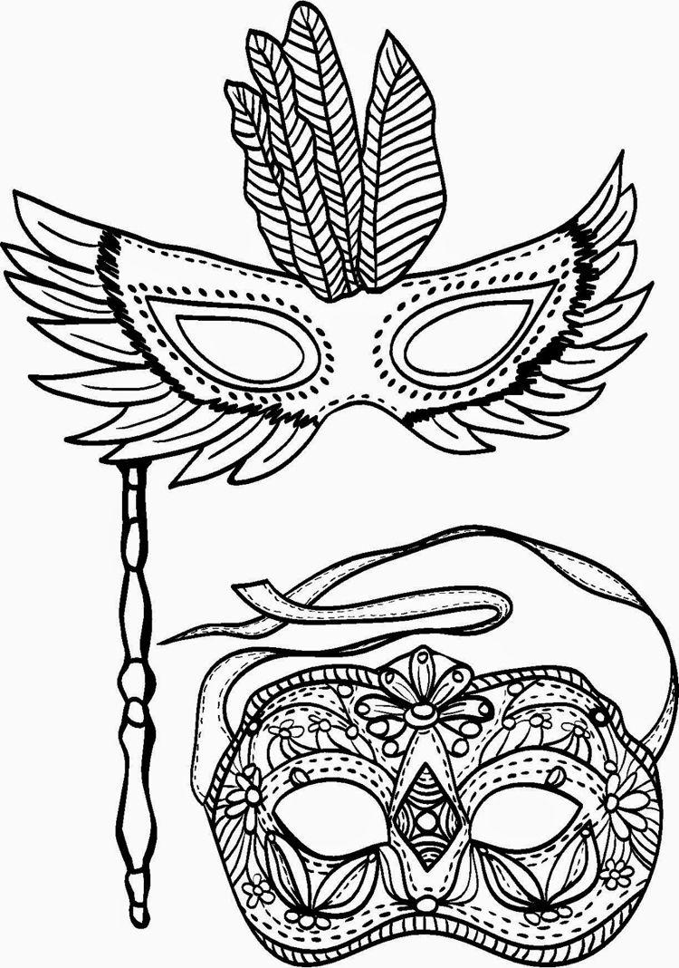 Masken Karneval Ausmalbilder Fur Kinder Gratis Children Print Carnival Ausmalen Ausmalbilder Kostenlose Ausmalbilder
