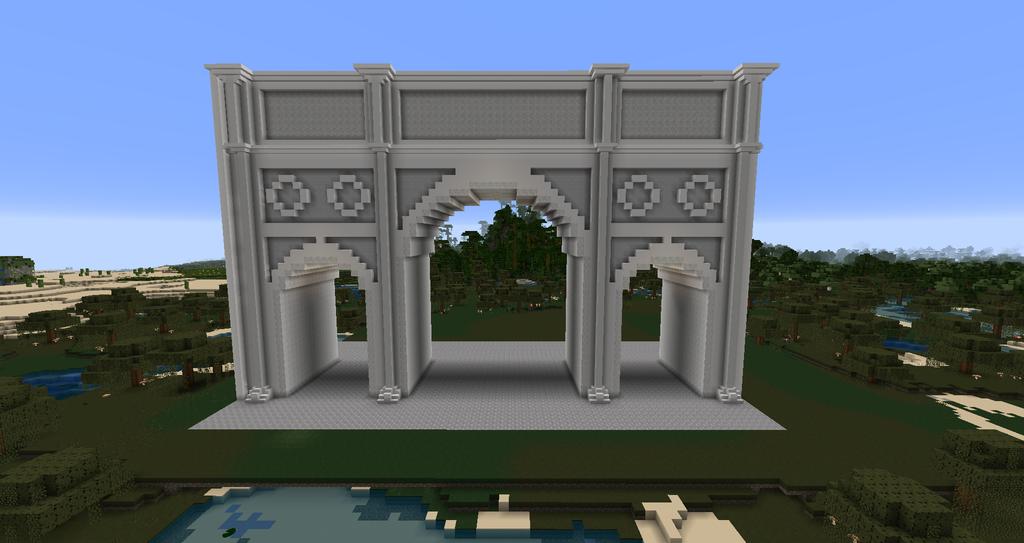 Minecraft Arch Of Constantine By Minecraftarchitect90