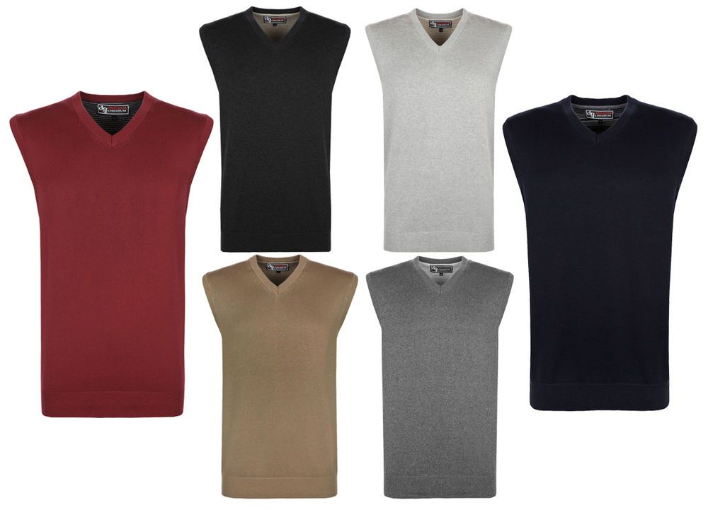 New Mens ACRYLIC Sleeveless Jumper Sweater Pullover Tank Top Size ...