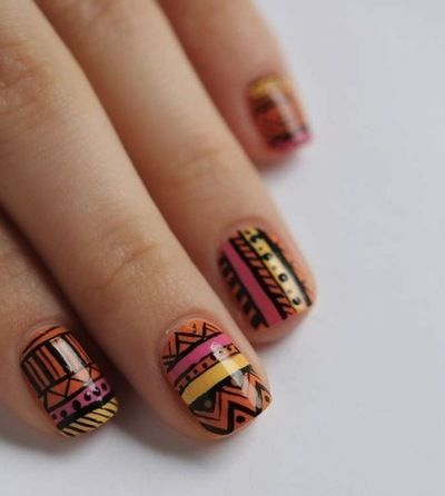 Tribal Nails Nails Pinterest Nail Nail Pedicures And Make Up
