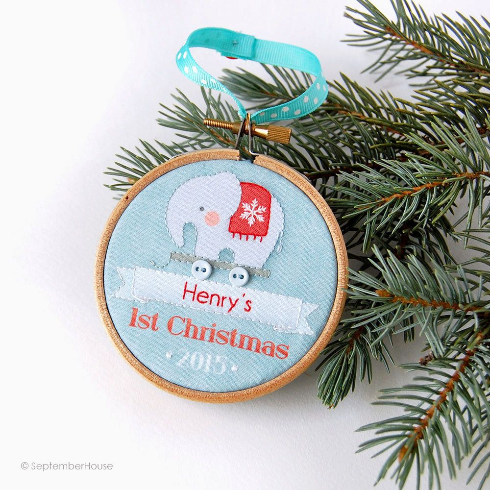 Embroidered Baby Gift Ideas : Coolest gifts for baby s first christmas embroidery