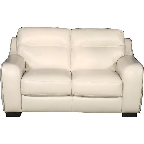 Pleasant Clearance Prague 60 Inch Snow White Leather Loveseat Machost Co Dining Chair Design Ideas Machostcouk