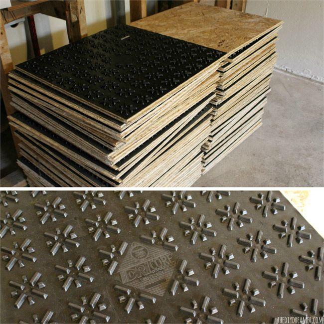 Basement Renovation DRIcore Subfloor Installation DIY Pinterest - Best floor covering for damp basement
