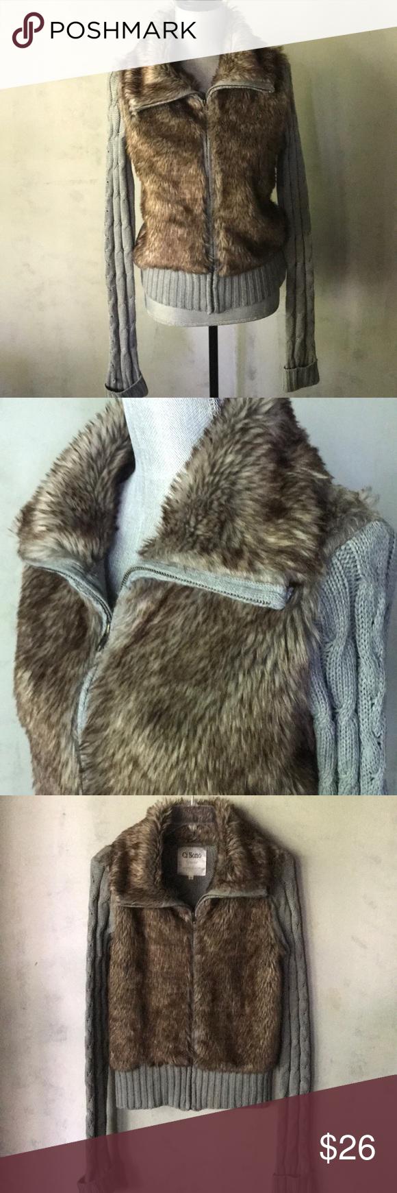 846a7ef4519 Ci Sono Faux Fur Zipped Sweater Super cute & cozy sweater jacket ...