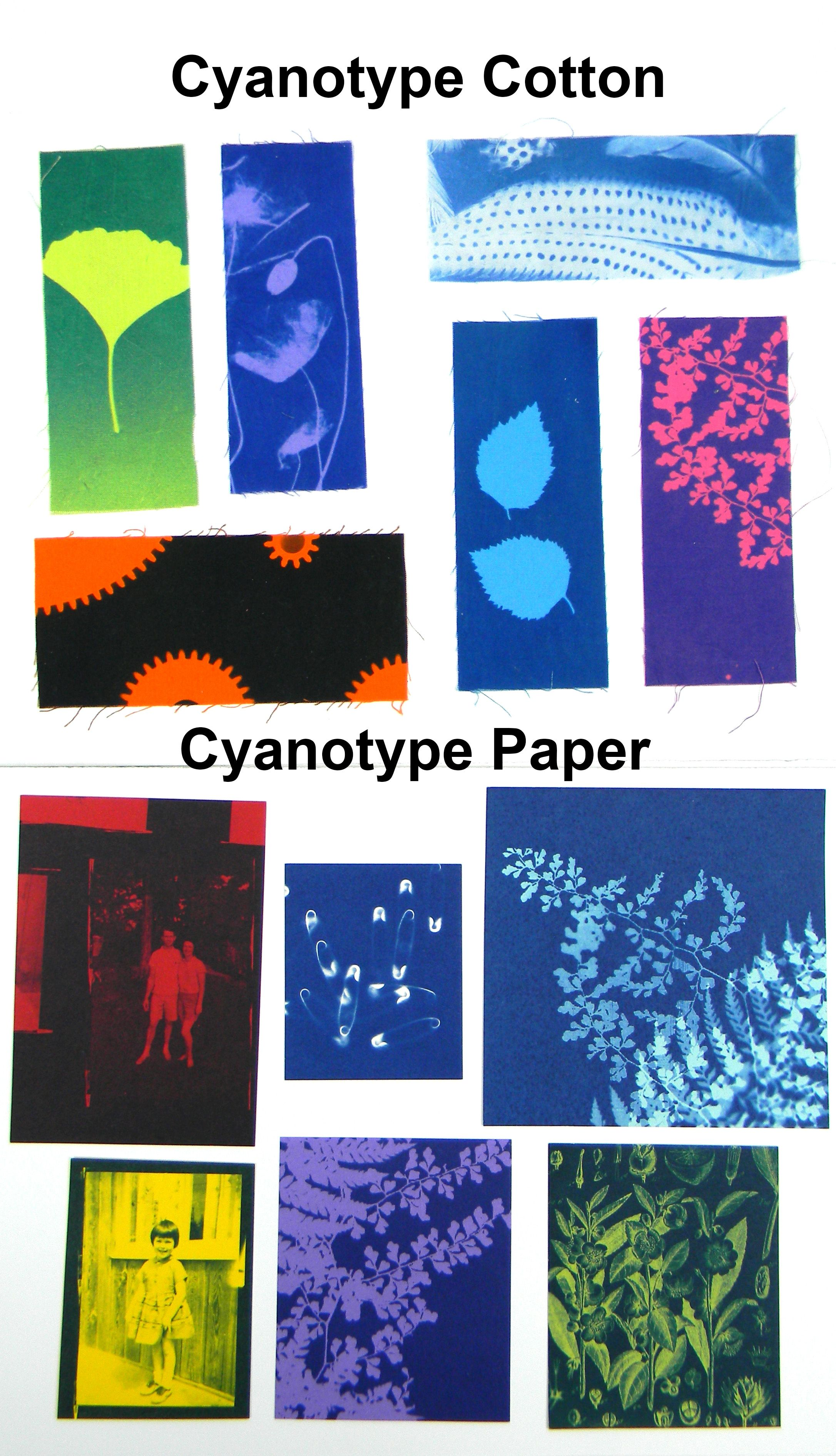 Cyanotype colored paper red
