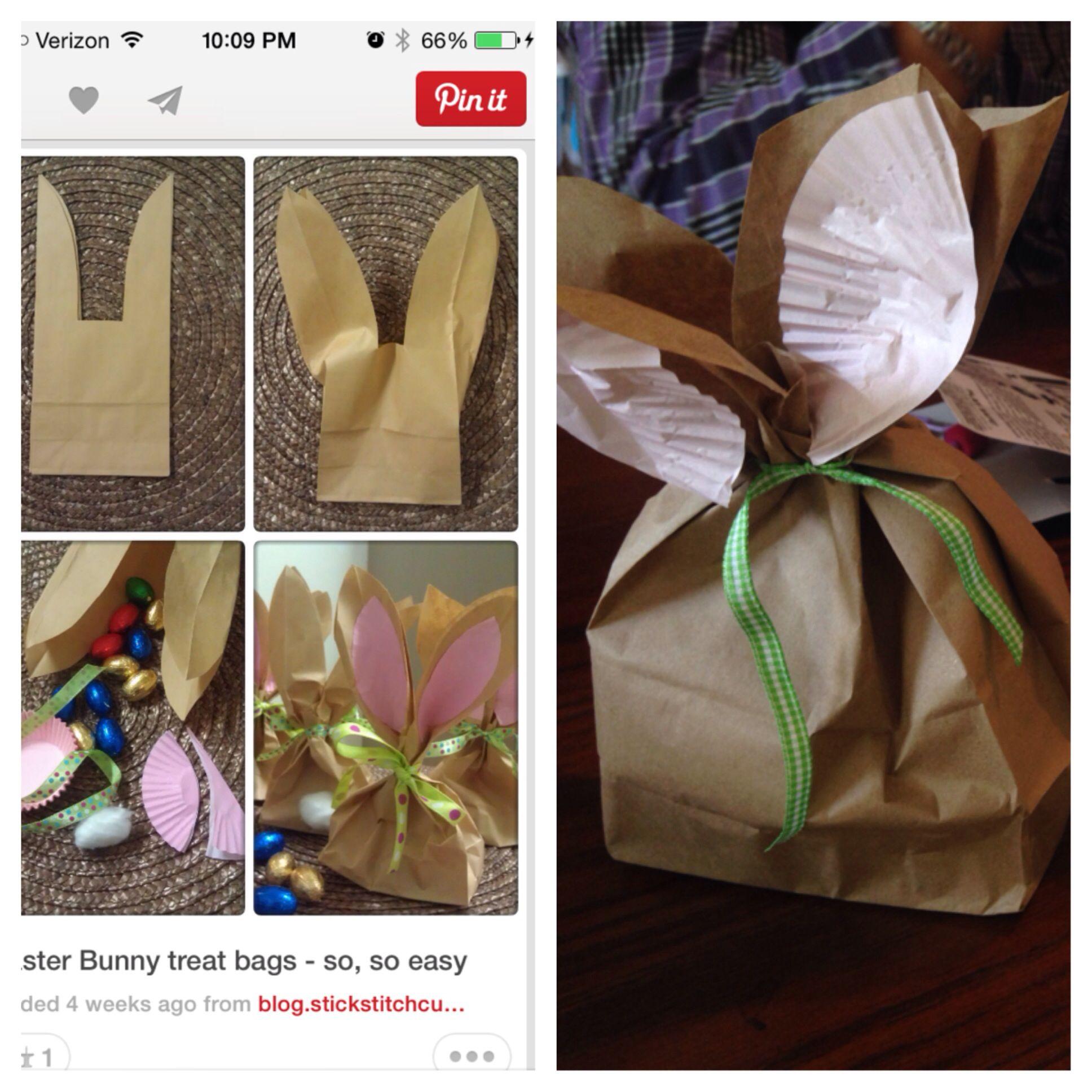 Bunny goody bags!