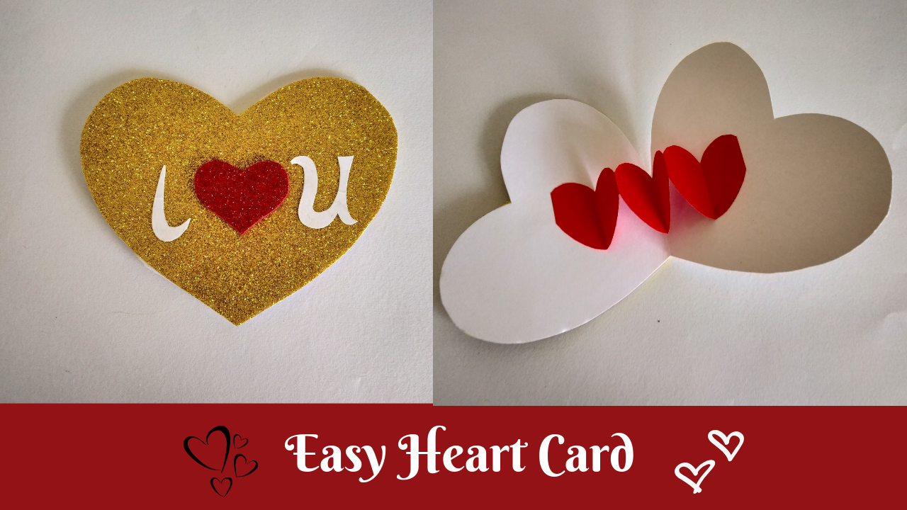 Quick And Easy Heart Shaped Pop Up Card Handmade Valentines Day Card Diy Handmade Valentine Valentines Day Cards Diy Cards Handmade