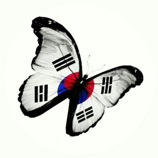 Korean Butterfly Tattoo South Korea Flag South Korean Flag Korean Martial Arts
