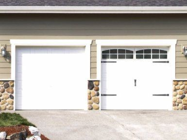 Simulated Garage Door Window Lowe S Has Them Too Going To Have To See These In Person But Could Loo Garage Door Decor Garage Doors Faux Garage Door Windows