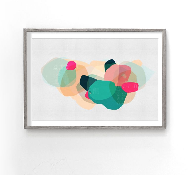 In the pacific :  abstract art by Lindsay Blamey
