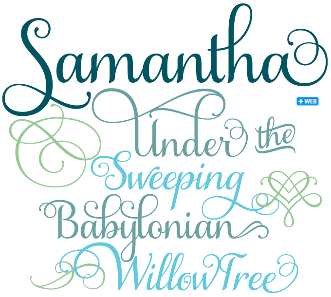 Samantha Under The Sweeping Babylonian Willow Tree Green