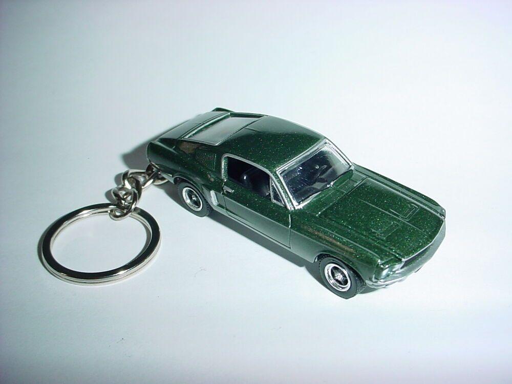 New 3d Green 1968 Ford Mustang Gt Custom Keychain Keyring 68