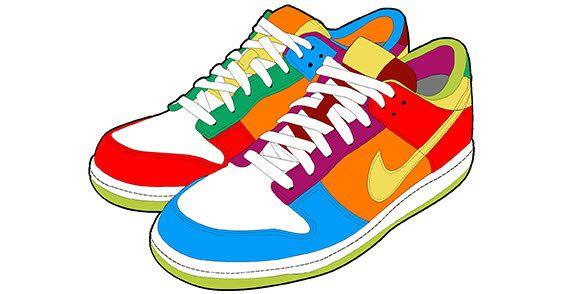 Sneaker Clip Art #21128 | Colorful sneakers, Nike, Sneakers nike