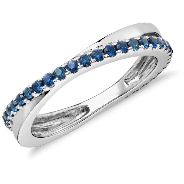 blue nile sapphire infinity eternity ring in 14k white