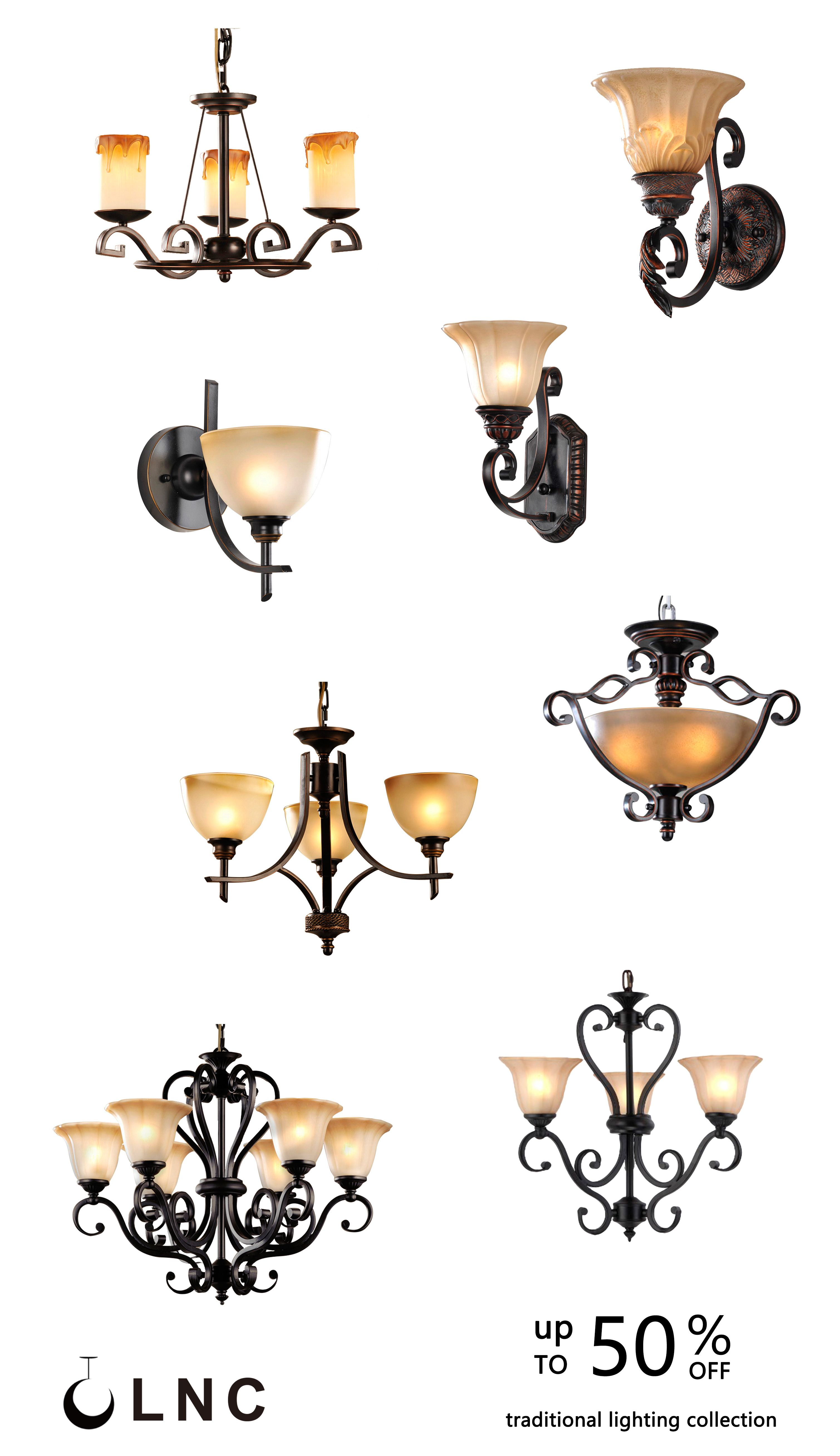 Traditional Lighting Lamps Collection
