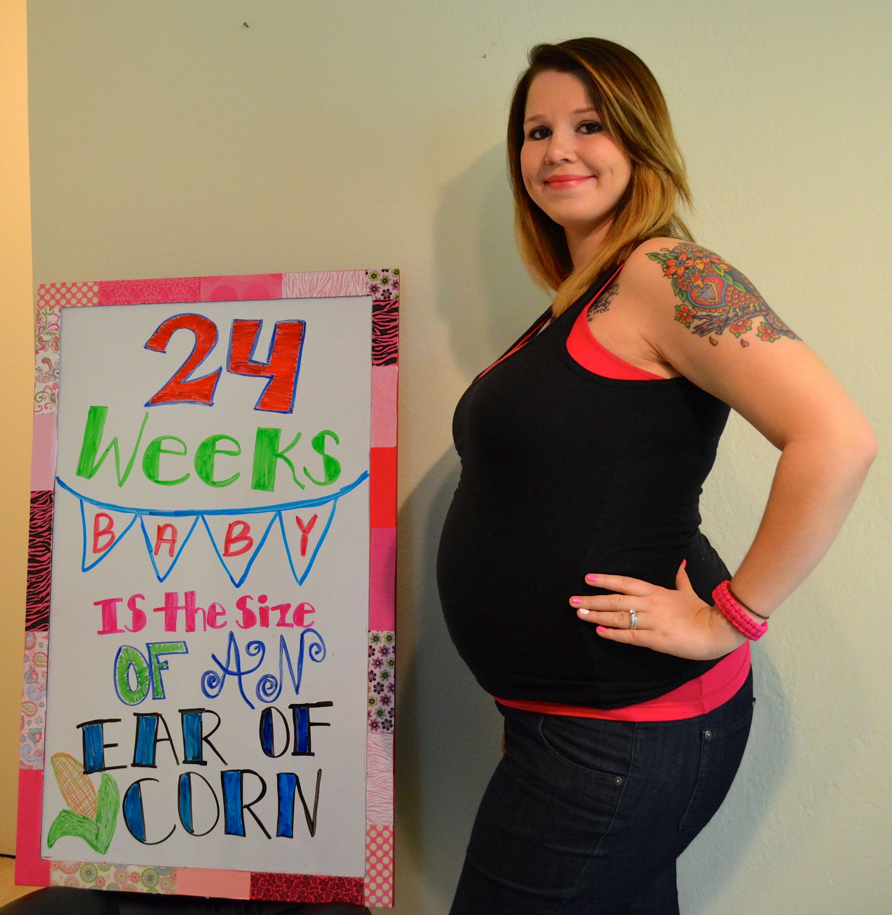 24 weeks! Baby is the size of an ear of corn! # ...