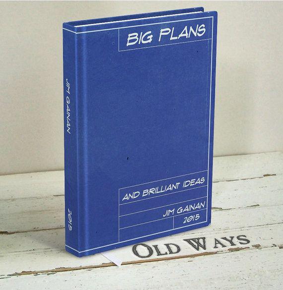blueprint personalized journal - big plans journal - blank book