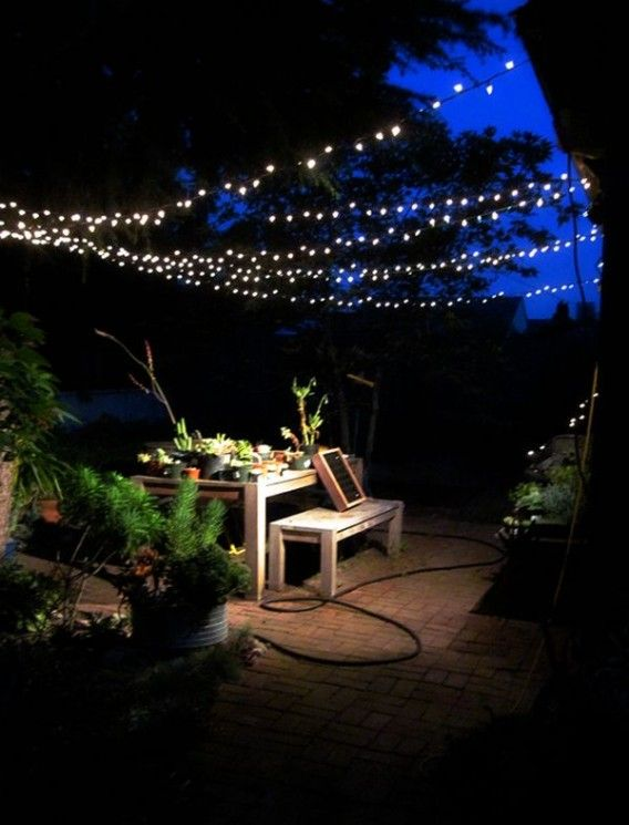 String Outdoor Patio Hanging Lights Party