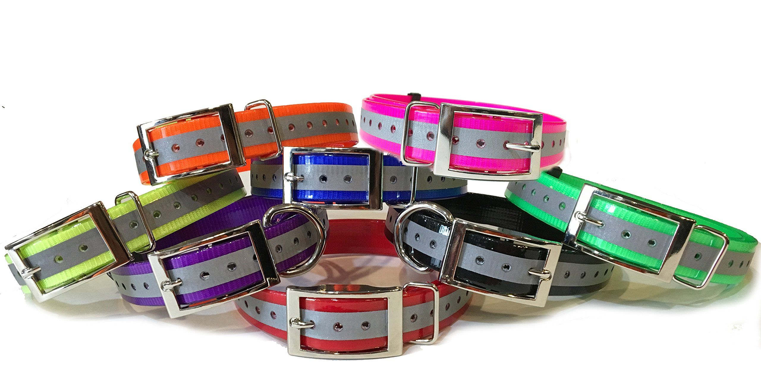 Sparkypetco 3 4 Square Buckle High Flex Reflective Dog Strap For