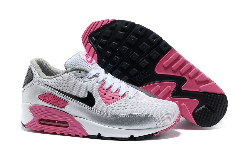 half off 363d6 31aed White Black Pink Flash Metallic Silver Nike Air Max 90 EM Women s Shoes   White  Womens  Sneakers