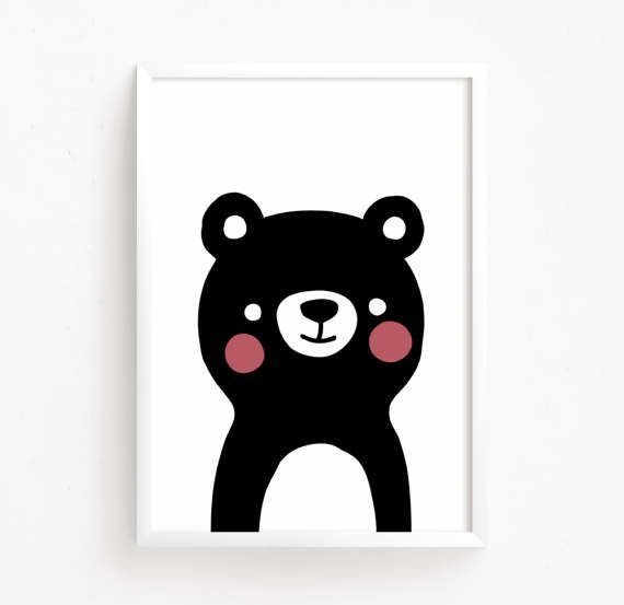Sale 50 Off Baby Bear Poster Cute Printable Art Animal Etsy Animal Kids Room Baby Room Prints Printable Nursery Art