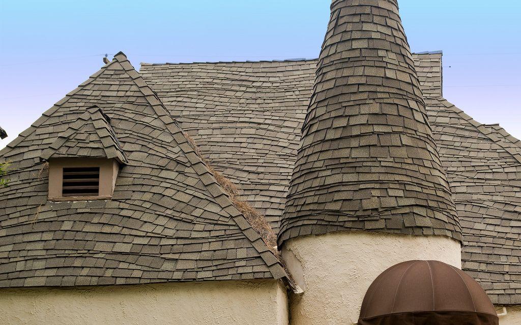 Wavy Roof On 315 Normandie Ct Redlands Ca Cedar Shingle Roof House Roof Roof Coatings