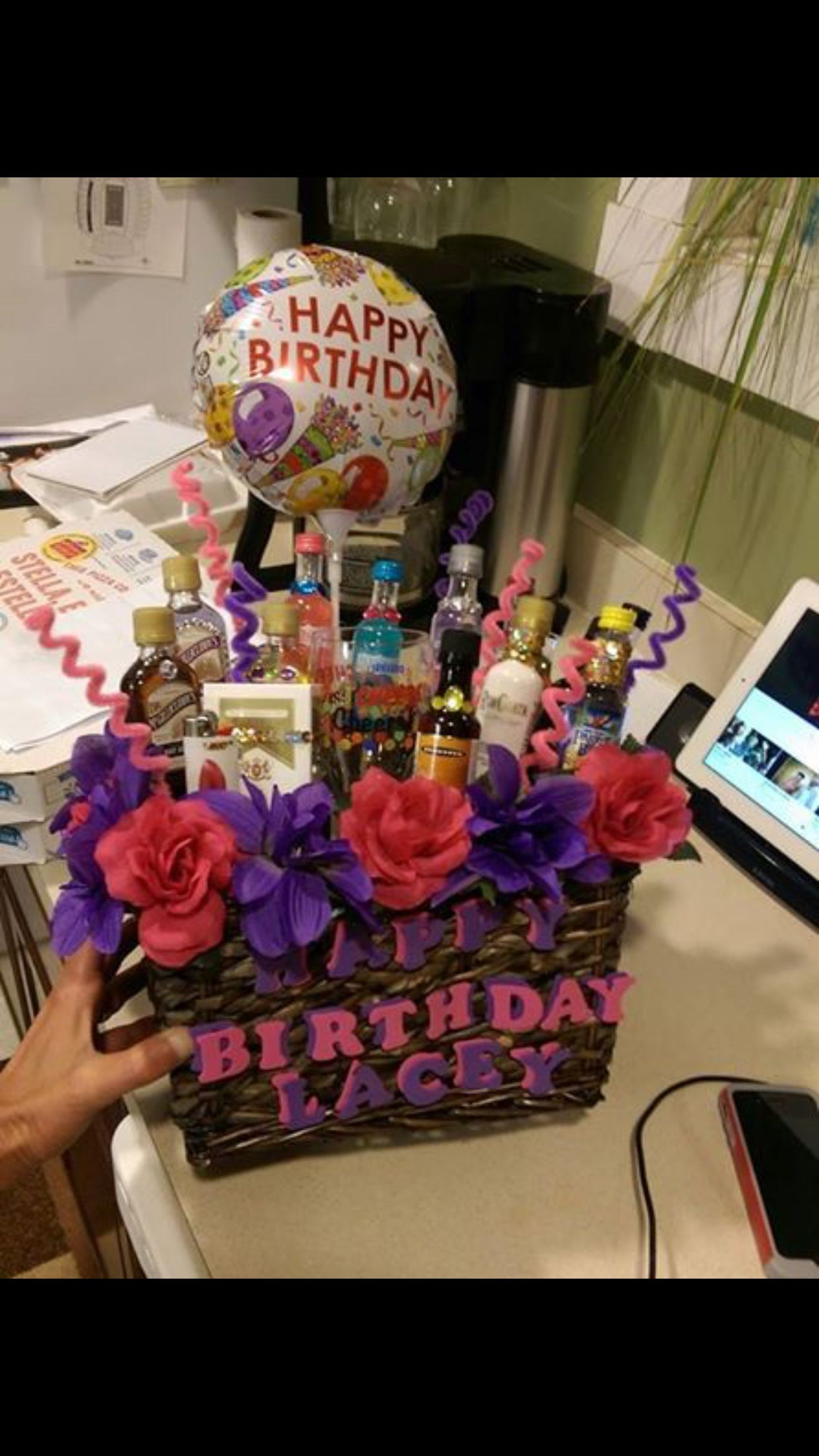 Birthday basket for my best friend birthday basket