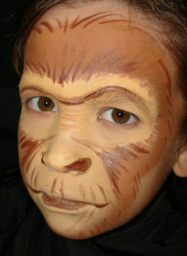 Affengesicht Kinderschminken   basteln Geburtstag und mehr ...
