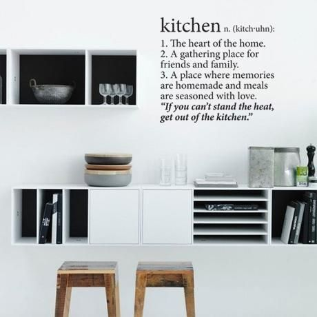 Kitchen Wall Vinyl – Black from Love Lexicon Wall Art - R229 (Save 56%)