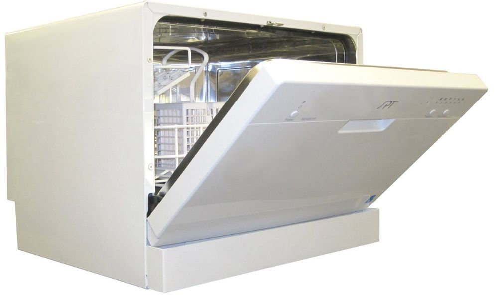 White Countertop Dishwasher Unit Portable Compact Kitchen