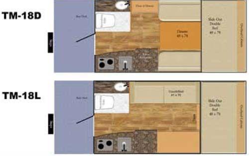 Takena Travel Trailer Floor Plans