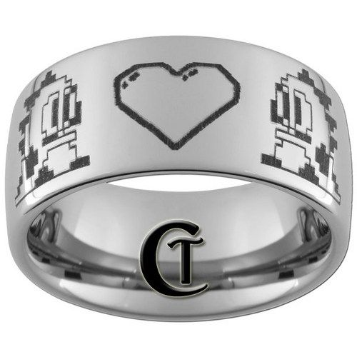 10mm Dome Tungsten Carbide Bubble Bobble Design Ring Sizes 3 17 Tungsten Mens Rings Geeky Wedding Rings Mens Tungsten