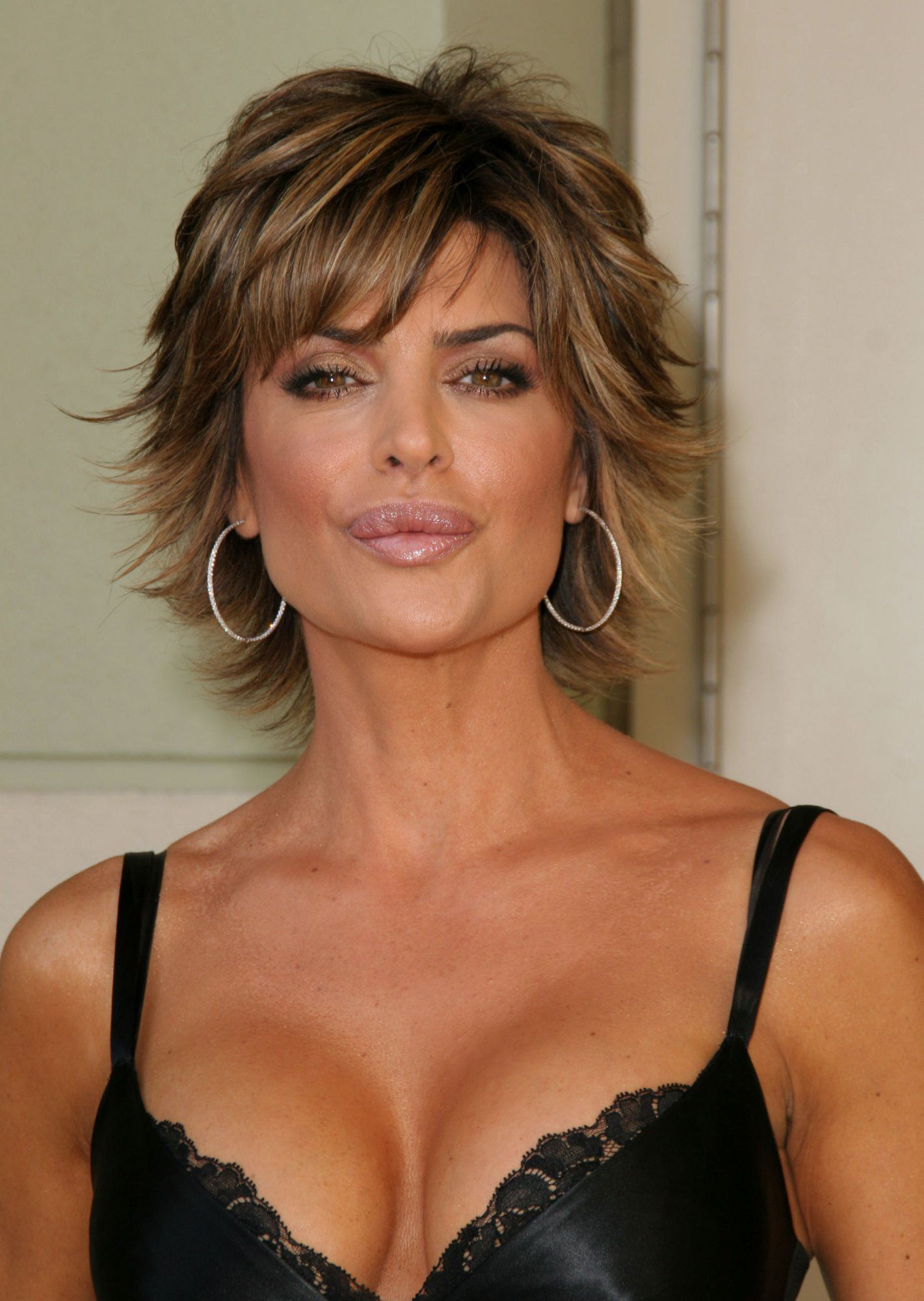 image detail for -lisa rinna unknown event (black dress) cleavage